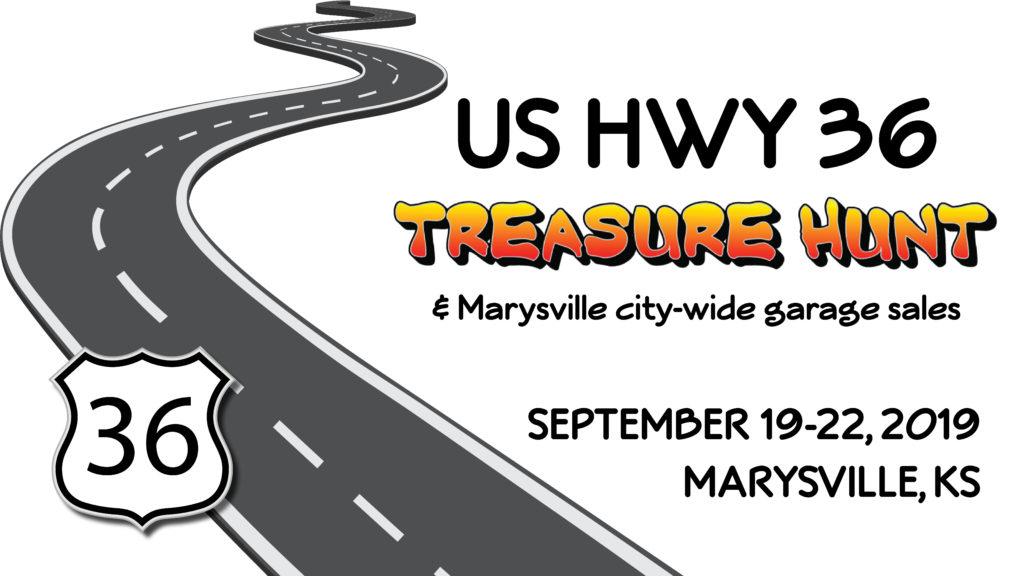 US 36 Highway Treasure Hunt & Citywide Garage Sales - Marysville Kansas